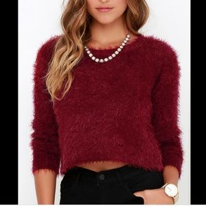 NWOT BILLABONG red cropped sweater | Fall Style| M